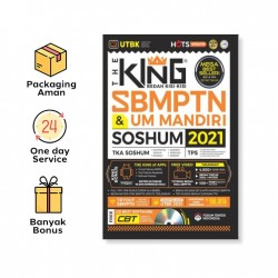 PRE-ORDER! THE KING BEDAH KISI2 SBMPTN & UM MANDIRI SOSHUM 2020-2021 / FORUM EDUKASI