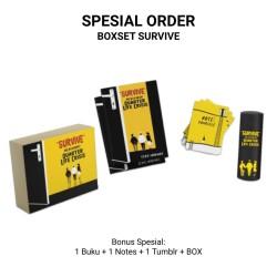 Boxset dan Buku Survive Menghadapi Quarter Life Crisis Bonus Notes & Tumbler (Brilliant)