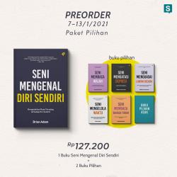 Pre-Order Seni Mengenal Diri Sendiri & Paket Bonus Buku Motivasi (Bright Publisher)