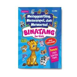 Binatang For Kids: Menggunting, Menempel Dan Mewarnai