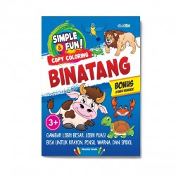 Simple & Fun! Copy Coloring Binatang