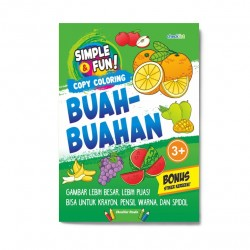 Simple & Fun! Copy Coloring Buah-Buahan