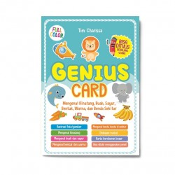 Genius Card: Mengenal Binatang, Buah, Sayur, Bentu, Warna Dan Benda Sekitar