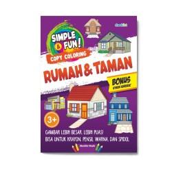 Simple & Fun! Copy Coloring Rumah & Taman