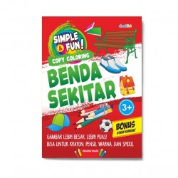 Simple & Fun! Copy Coloring Benda Sekitar