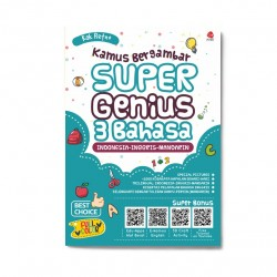 3 Bahasa: Kamus Bergambar Super Genius (Ind-Ing-Mnd)
