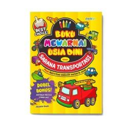Sarana Transportasi: Buku Mewarnai Usia Dini