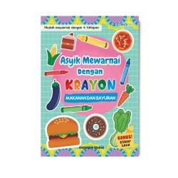 Makanan & Sayuran: Asyik Mewarnai Dgn Krayon