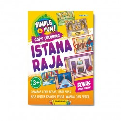 Simple & Fun! Copy Coloring Istana Raja