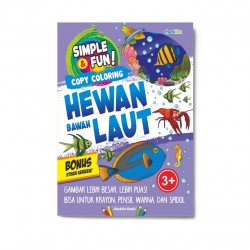 Simple & Fun! Copy Coloring Hewan Bawah Laut