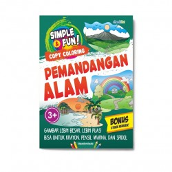 Simple & Fun! Copy Coloring Pemandangan Alam
