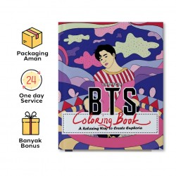 UNOFFICIAL BTS COLORING BOOK: A RELAXING WAY TO CREATE EUPHORIA